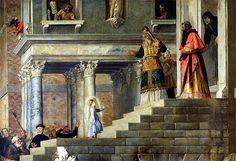 Presentation of Mary  Vecellio Tiziano (1539)