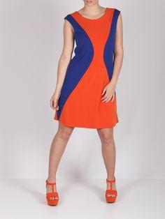 Vestido reloj de arena naranja #dress