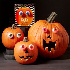 NEW FOR FALL 2013  -  What fun! Our pair of light-up eyeballs will be the decorative finish for your #Halloween pumpkin! http://www.fancyflours.com/product/light-up-pumpkin-eyes/halloween-party-theme