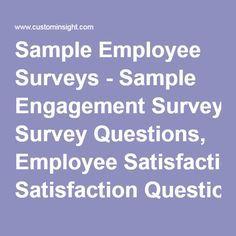 employee attitude and job satisfaction survey