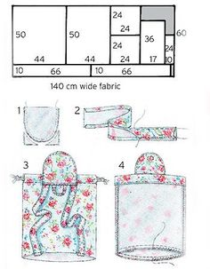 Print How to sew a simple backpack : free sewing patterns