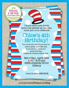 How to throw an easy Dr. Suess Party that looks like a pro planned it! | Affordable Kids Birthday Party Ideas | Personalized Invitations | Easy Kids Parties | Kids Party Planning | Party Printables | Kids Parties On A Budget | Your Specialty Kids Party Blog I love this.