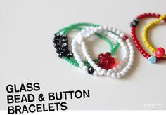 Handmade: Glass Bead & Button Bracelets