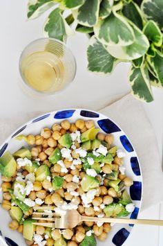 chickpea + avocado salad