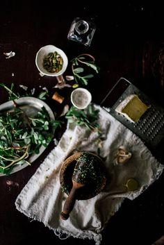 Purslane  pistachio pesto w/ farro risotto Beth Kirby | {local milk}