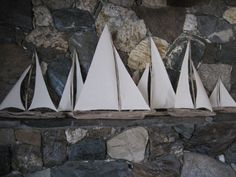 driftwood sailboats!