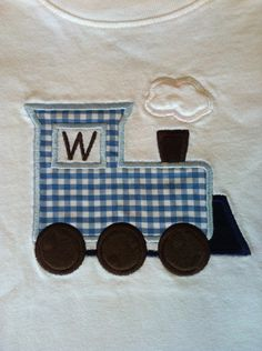 Applique Train Shirt with Initial