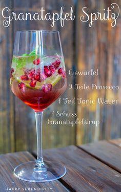 granatapfel-spritz, sommerdrink, rezept f??r einen leckeren sommerdrink, von happy serendipity