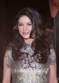 Catherine Zeta Jones long layered hairstyle