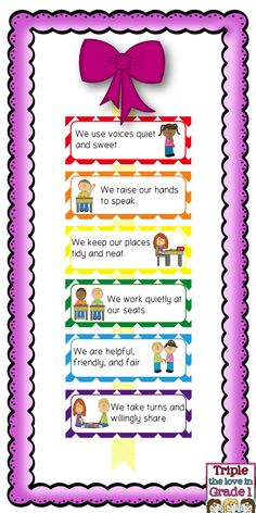 FREE rules poster. Just add to a ribbon to make a cute display!