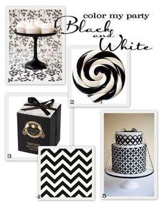 black + white party