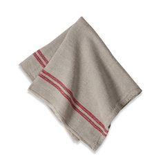 Amazon.com - Couleur Nature Khadhi Linen Red Stripe Napkins 20x20, Set of 4