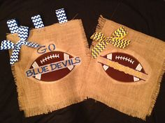 Football burlap Garden flags
