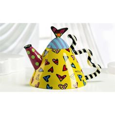 Romero Britto Teapot with Hearts