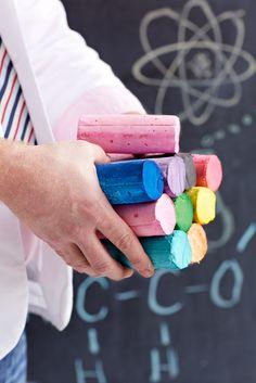 homemade chalk for summer!