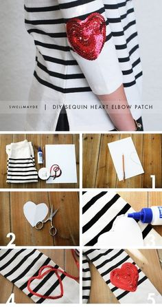 Heart-Shaped elbow patches