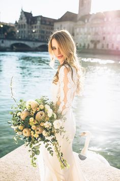 dreamy Zurich bridal