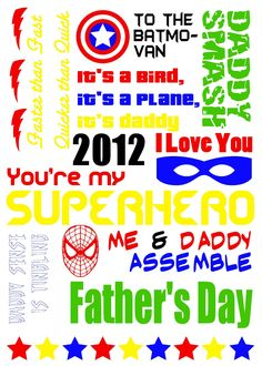 tales of the scotts: Free Superhero Father's Day Printable