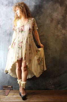 Vintage 1980s Fishtail Dress