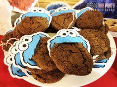 Cookie Monster cookies! #cookiemonster #sesamestreet #cookies
