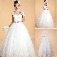 These high quality ball gown wedding dress are the very worthwhile choice in summer. Formal designer wedding dress are produced with nice and distinctive patterns to wear in summer.Do you want to be a beautiful and elegant bridal in the wedding party? Do you want one stylish and fashionable wedding dress. Look at this fashion a line bridal gown,it will make you charming and happy. It is perfect for attracting attention to your colorful personality. It will surely make you stand out from the ...