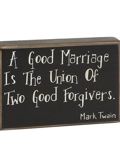 'A Good Marriage' Box Sign