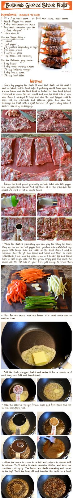 Balsamic Glazed Steak Rolls | Picture the Recipe