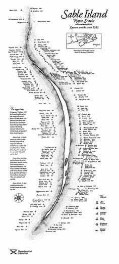 Sable Island Map by Endless Forms Most Beautiful, via Flickr~ the many shipwrecks of Sable Island