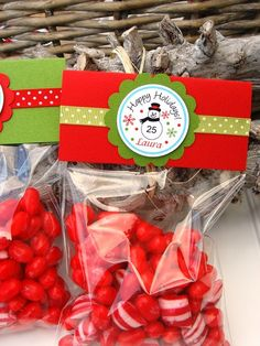 Christmas  Favor Bags Gift Bags by thepaperkingdom on Etsy, $13.00