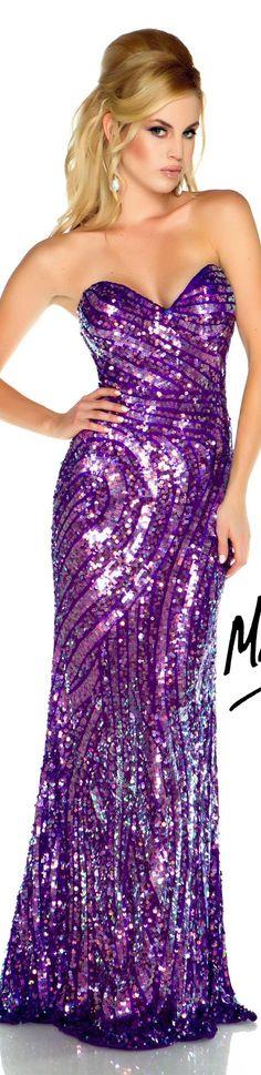 Mac Duggal couture dress purple / multi #strapless #glitter #long #dress #purple FLASH  STYLE 3741L