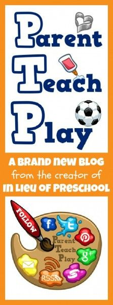 Welcome to Parent Teach Play!  All things kids -- arts and crafts, learning activities, play ideas, book reviews, & more -- for parents and teachers!