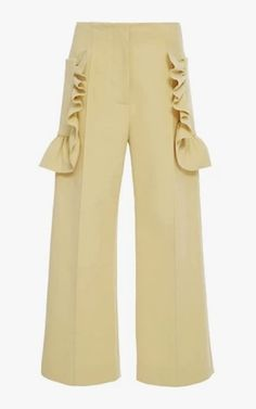 Marni ruffled cropped trousers, $990.
