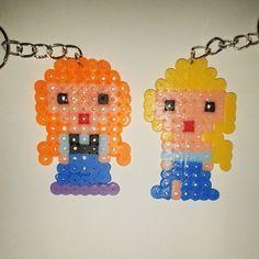 Anna and Elsa - Frozen hama beads by lagunesa
