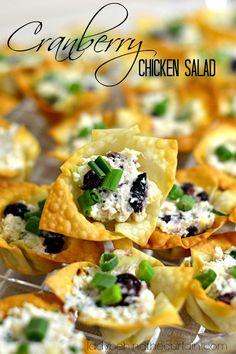 cranberri chicken, chicken salads