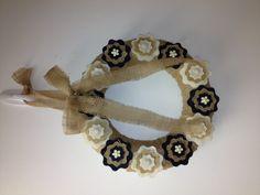 Wreath burlap felt button bow flower burlap etsy pairofpetals