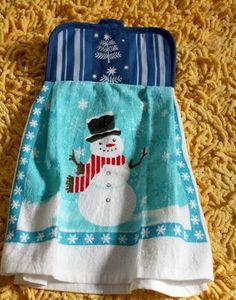 Pot Holder Dish Towel // dollar store crafts