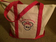 Princess in Training Embroidered Canvas Bag