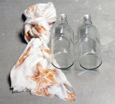 Going to a party? Need a present? Here is a DIY bottle carrier. See how-to on the blog today! http://blog.swell.com/DIY-scarf-bottle-carrier