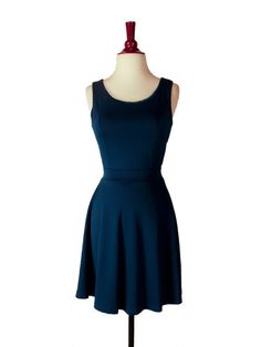 Steel Blue Button Back Dress by Coco Love