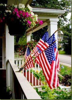 Patriotic Bunting: Multi flag holder.