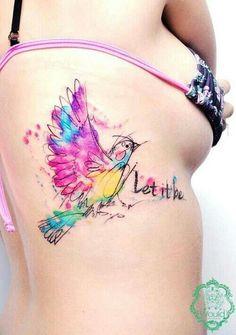 Pretty watercolor tat~