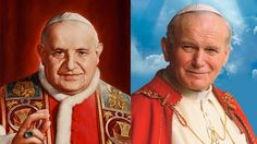 Cut from the same cloth--From their upbringing to teachings on peace and human rights, John XXIII and John Paul II had a lot in common