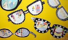 idea, craft, summer vacations, writing prompts, bulletin boards, artist, sunglasses, kid, back to school