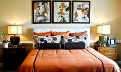 Earth tones bedroom