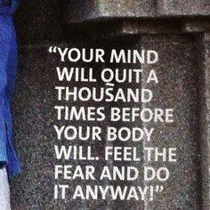 Workout inspiration!