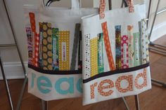 read bag would be great for carrying library books - would love for someone to make this for me...