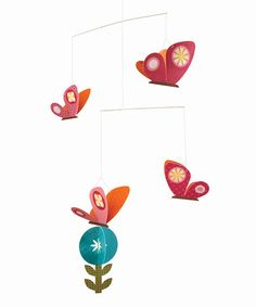 Spring Butterflies Mobile by Petit Collage