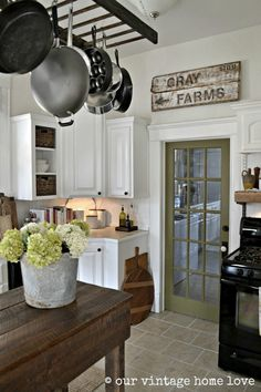 our vintage home love - kitchen