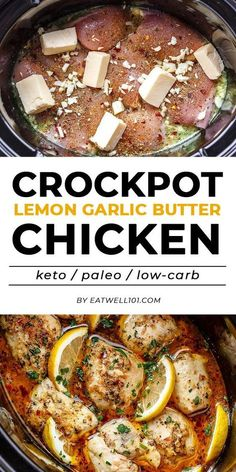 Crock Pot Lemon Garlic Butter Chicken - #eatwell101 #recipe - Easy and delicious crock pot chicken dinner recipe with outstanding flavor! #crockpot #chicken #dinner #recipe, chicken in crock pot, chicken crockpot recipe, slow cooker chicken recipe, chicken in #slow-cooker - This #recipe by #eatwell101