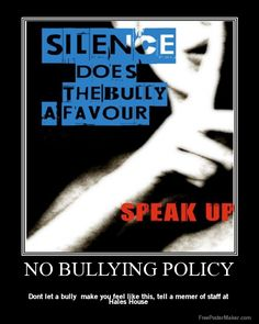 No bullying please